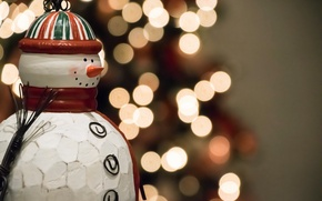 Wallpaper holiday, toy, Snowman