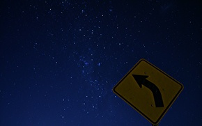 Picture space, stars, night, sign