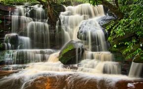 Picture waterfall, Australia, cascade, Australia, Brisbane Water National Park, Somersby Falls