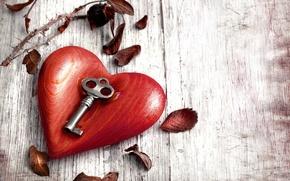 Picture leaves, metal, tree, heart, key