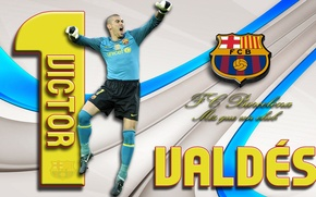 Picture wallpaper, sport, football, player, FC Barcelona, Victor Valdes, My As a Club, More Then a ...
