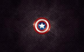 Picture sign, star, minimalism, hero, shield, star, minimalism, sign, 2560x1600, hero, shield, Captain america