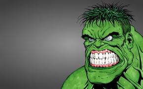 Picture green, monster, Hulk, hulk, evil face