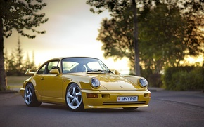 Picture Carrera 4, Porsche 911, yellow, Supercharged