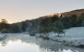 Picture landscape, river, morning