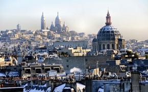 Picture winter, the city, Paris