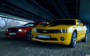 Picture machine, lights, Chevrolet, photographer, before, Camaro, drives, auto, photography, photographer, Alex Bazilev, Alexander Bazylev, Alexander …