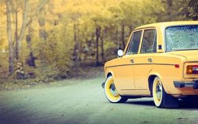 Picture car, autumn, car, Lada, autumn, old
