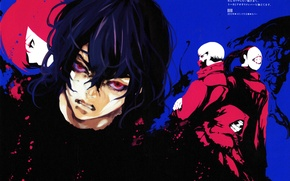 Picture monsters, hatred, red eyes, evil eye, Tokyo Ghoul, Noro, obsessed, eater