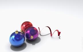 Wallpaper New Year, Serpentine, Balls