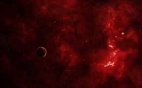 Picture red, cosmos, planet