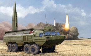 Picture figure, Oka, start, art, PTRC, Soviet operational-tactical missile complex, SS-23 Spider