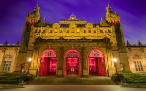 Picture night, Scotland, lights, Museum, Scotland, Glasgow, Museum, Houses, Kelvingrove