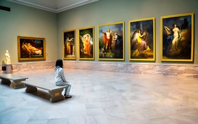 Picture girl, pictures, Museum
