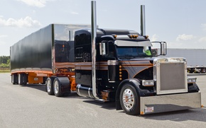 Wallpaper truck, custom, semi show, peterbilt
