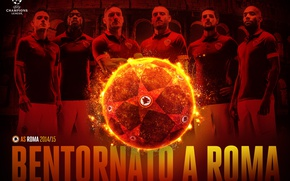 Picture wallpaper, sport, team, football, AS Roma, UEFA Champions League, players