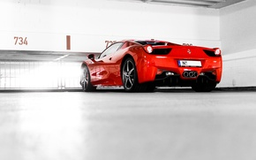 Picture red, Parking, red, ferrari, Ferrari, Italy, 458 italia, back