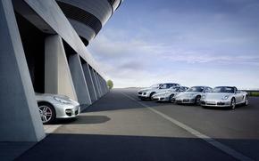 Wallpaper garage, Porsche, line