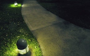 Picture grass, lawn, lantern