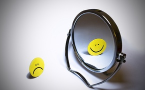 Wallpaper mirror, Smiley, smile