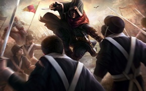 Picture war, soldiers, assassin, Assassin's Creed