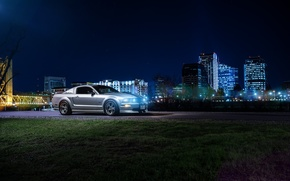 Picture Mustang, Ford, Dark, Muscle, Car, Front, Downtown, American, Nigth