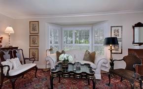Picture photo, Design, Sofa, Table, Interior, Living room