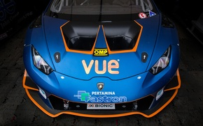 Picture car, Lamborghini, blue, race
