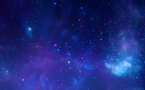 Picture space, stars, Milky Way