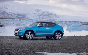 Picture the sky, clouds, snow, mountains, Volkswagen, Concept A