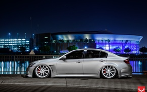Picture Auto, Machine, drives, Auto, landing, Infiniti G37, Vossen Wheels