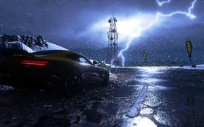 Picture rain, race, the game, race, mercedes, rain, race, amg, 2014, PS4, 2015, Driveclub, Evolution Studios
