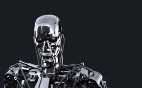 Wallpaper metal, terminator, cyborg