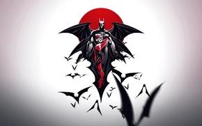Picture girl, fantasy, Batman, art, background, sun, comics, artwork, superhero, bats, DC Comics, Harley Quinn, heroine, …