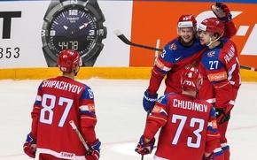 Picture joy, Russia, hockey, Russia, Russian, team, hockey, Dadonov, Ice hockey world championship, Hockey players, World …