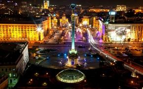 Picture night, Ukraine, night, Kiev, Ukraine, Kiev, Independence square