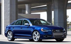 Picture Audi, Audi, Blue, Machine, Machine, Sedan, Car, Car, Cars, Blue, Cars, Sedan, US-spec
