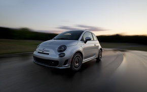 Picture Sunset, Turn, 500, Fiat, Blur