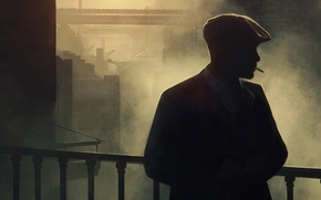 Picture the series, art, Cillian Murphy, Peaky blinders, Peaky Blinders, Tommy Shelby
