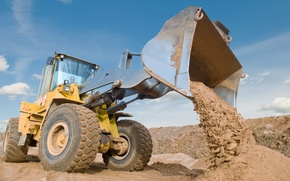 Picture yellow, land, vehicle, loader