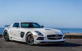 Picture Mercedes, AMG, Black, SLS, Series