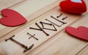 Picture love, red, background, widescreen, Wallpaper, mood, heart, wallpaper, love, heart, I love you, widescreen, background, …