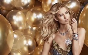 Picture balloons, model, Karlie Kloss, Karlie Kloss