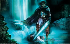 Picture water, light, magic, Sword, cloak, heroes of annihilated empires