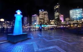Picture night, Sydney, light, Australia, night, Australia, Sydney, downtown, Harbor and Skyline