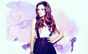 Wallpaper look, girl, pose, model, actress, tattoo, tattoo, singer, Cher Lloyd, Cher Lloyd