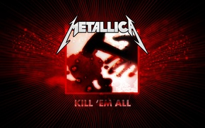 Picture Metallica, cover, Kill them all, the first album 1983
