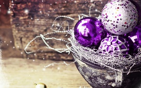 Picture balls, toys, new year, Christmas, decoration