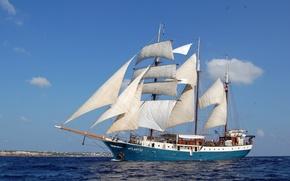 Picture sea, Atlantis, ship, sailboat