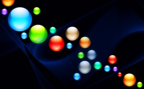 Picture light, background, color, ball, round, ball